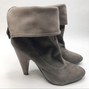 ASH Slouchy Gray Suede Booties